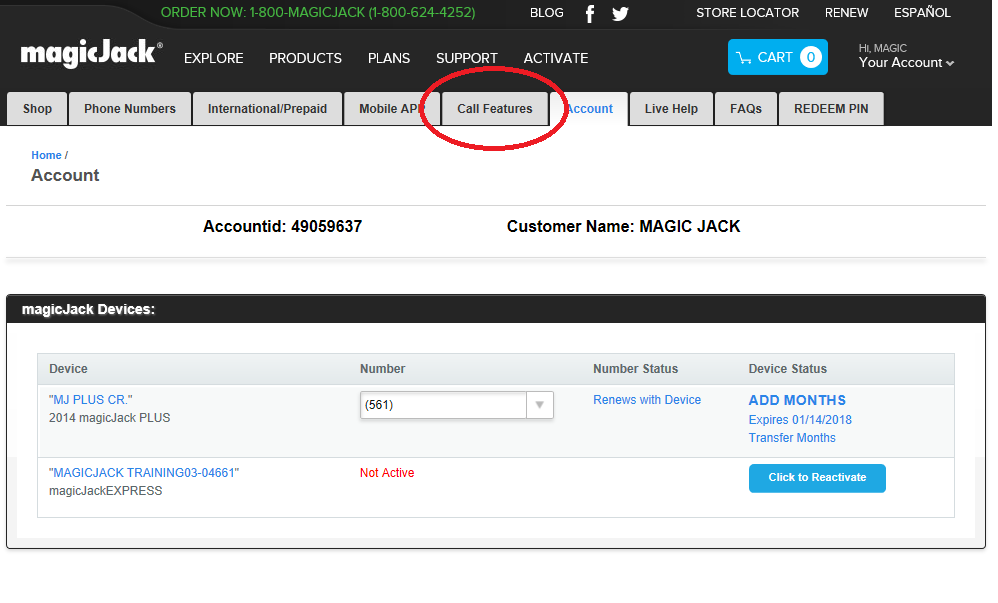 How to block a caller on magicjack